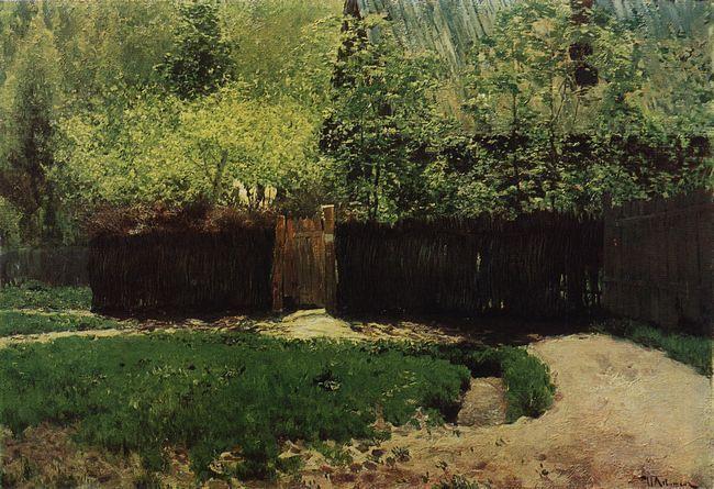 Исаак Ильич Левитан » Малоизвестные картины, пейзажи » Первая зелень. Апрель