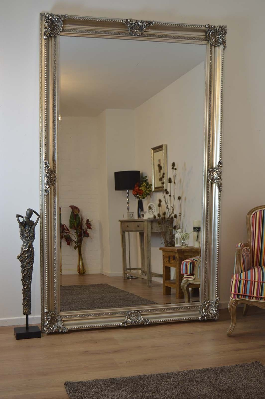 8ft x 5ft v large antique style silver rectangle wood wall mirror mirror outlet has the largest range of antique design mirrors including v large antique style silver rectangle wood wall mirror leaner x amipublicfo Images