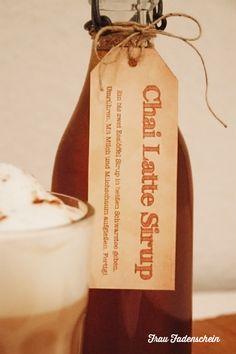 Leckeren Chai Latte Sirup selber machen + Freebie - Frau Fadenschein