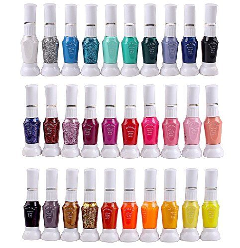 Eforstore Hot Sales 30 Colors Nail Art Two-way Pen and Brush Varnish ...