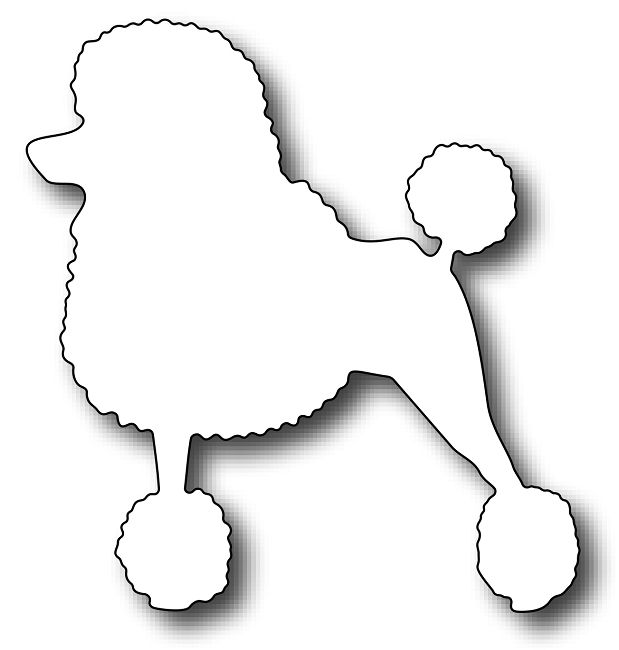 Frantic Stamper - Precision Dies - Toutou the French Poodle | doggie ...