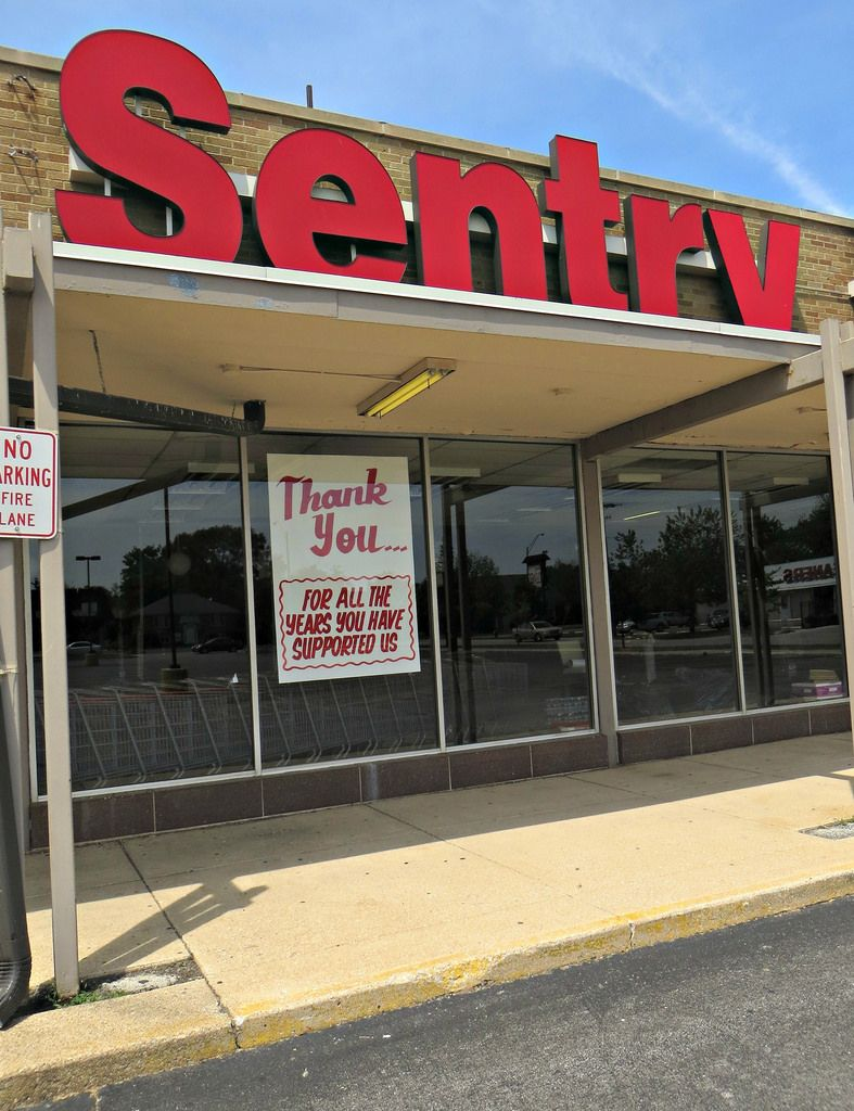 """""""Thank You"""" from Sentry Foods Grocery store, Mall, Chicago"""