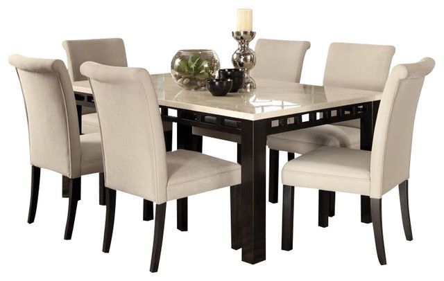 26++ White dining room set for 8 Top