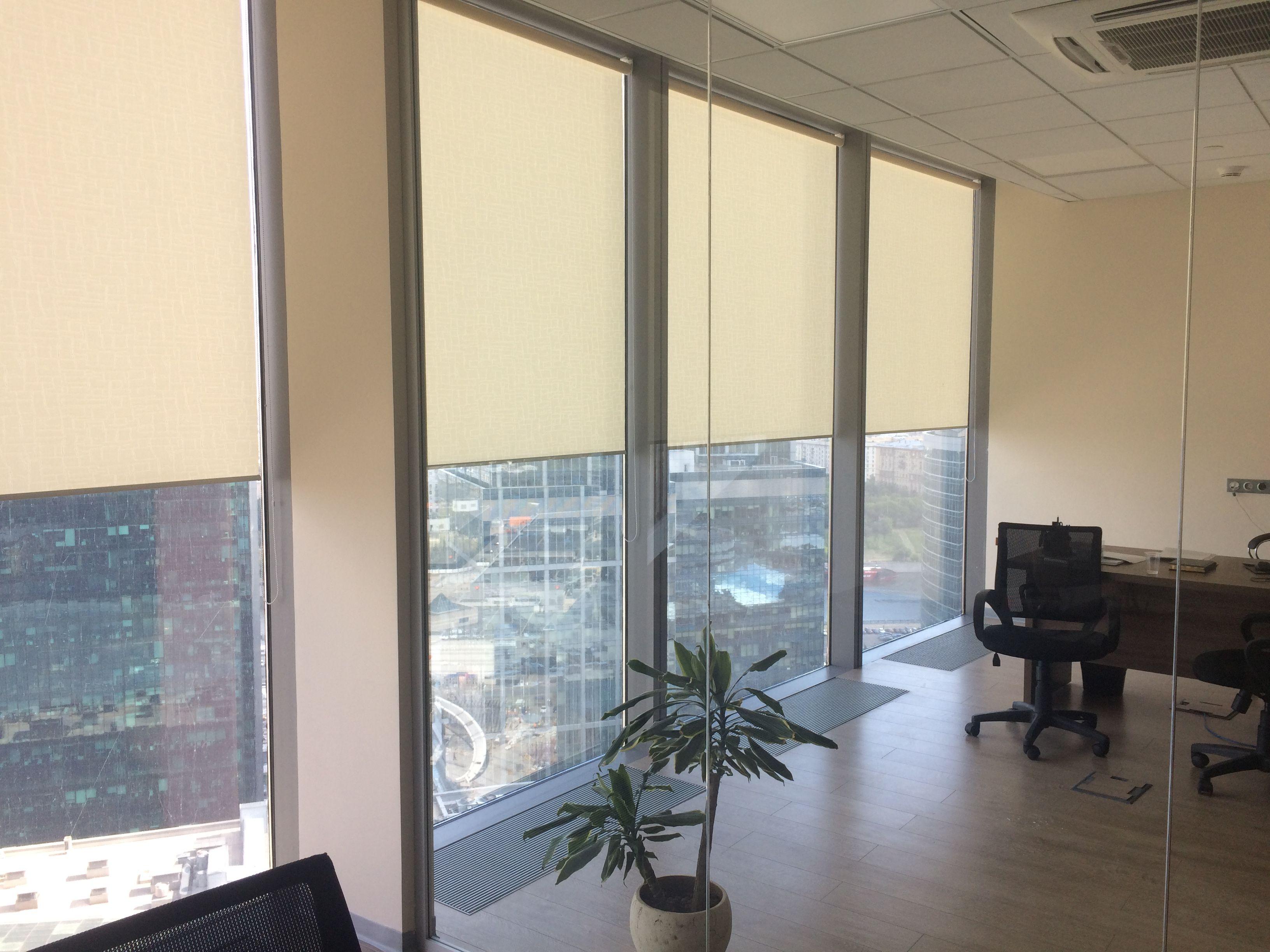 рулонные шторы на панорамные окна в москва сити рулонные
