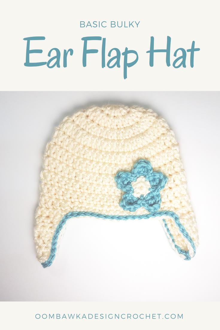 Basic Bulky Ear Flap Hat Pattern   Crochet baby hats free ...