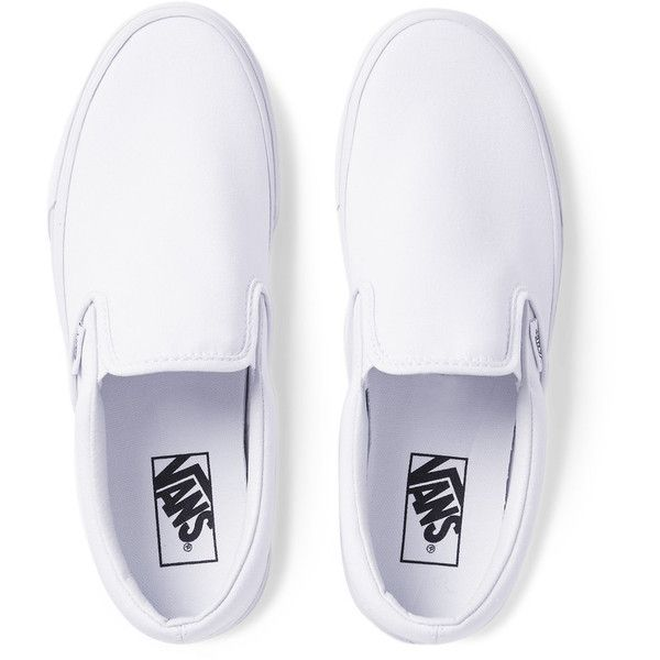 Vans Classic Canvas Slip-On Sneakers ( 45) ❤ liked on Polyvore featuring men s  fashion 296bdd79a
