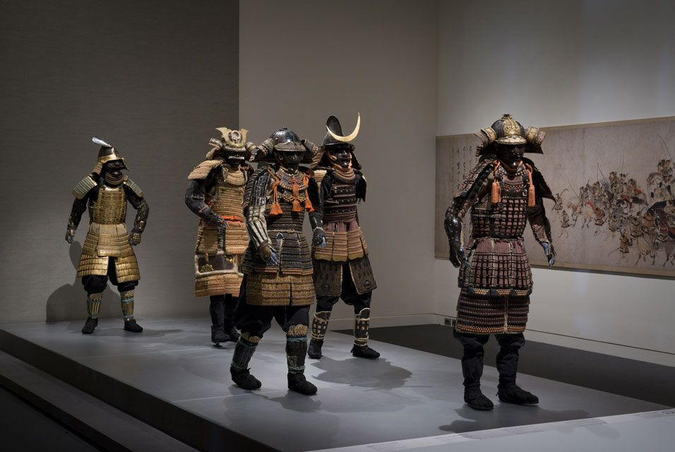 Samurai! Armor from the Ann and Gabriel Barbier-Mueller Collection at the Museum of Fine Arts, Boston. Ann and Graham Gund Gallery, Museum of Fine Arts, Boston. Photo: Courtesy of The Ann and Gabriel Barbier-Mueller Museum, Dallas© Museum of Fine Arts, Boston.