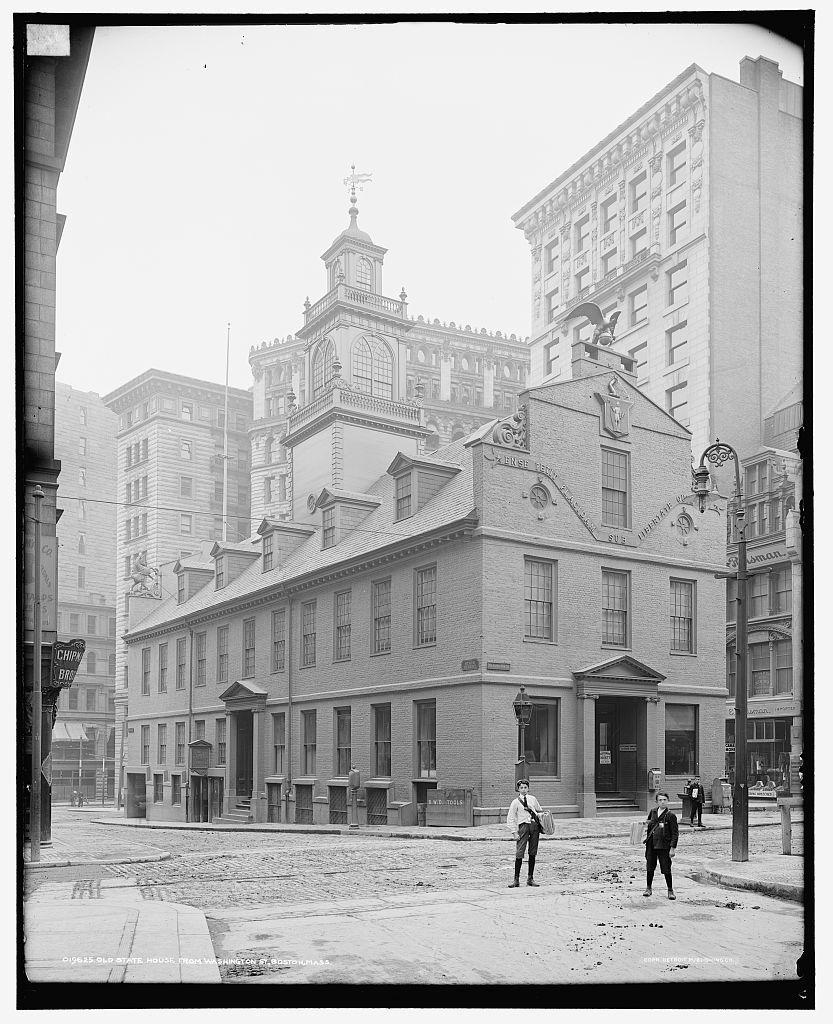 Old State House From Washington Street Boston Pictures Boston History Canvas Art Prints