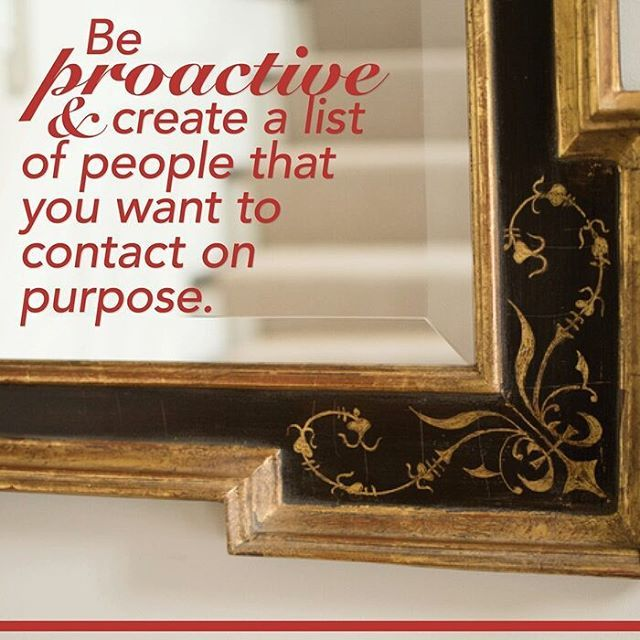 Create your list and reach out to at least 2-3 of those people today!  #reexpert #jillboudreau #wellesley #wellesleylife #success