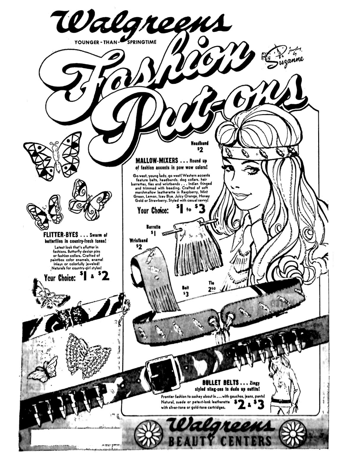 walgreens fashion put ons april 1971 1970 s 1980 s newspaper Fashion Jeans walgreens fashion put ons april 1971 newspaper advertisement retro vintage 1970s sons