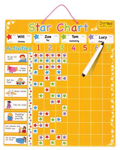 Doowell Kids Chore Charts Large Family Star Chart  Chart Star