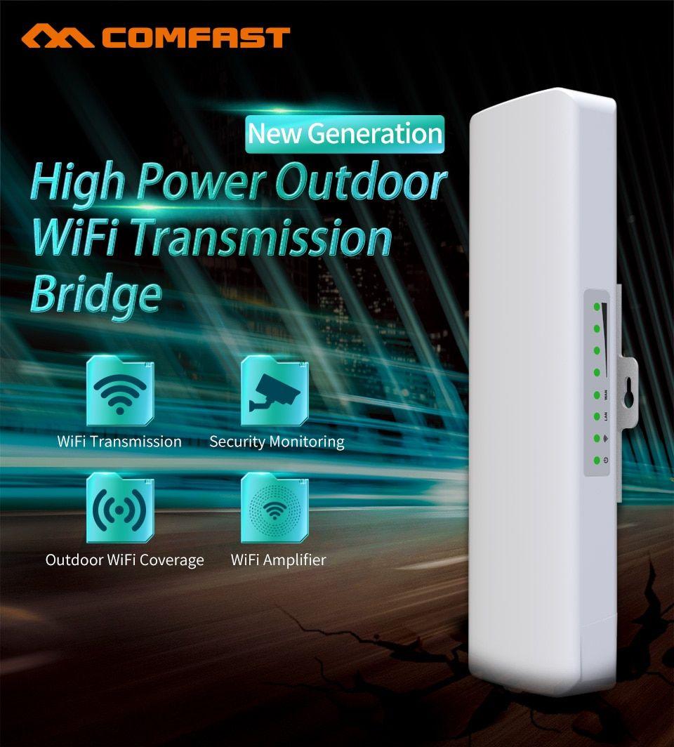 300mbps Wireless Outdoor Cpe Bridge 2 4g 2 14dbi Directional Wifi Antenna Long Range Point To Point Wireless Access Wifi Router Network Bridges Wifi Extender