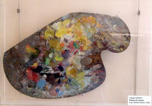 europhic:   Claude Monet's palette at the Musee Marmottan, Paris.