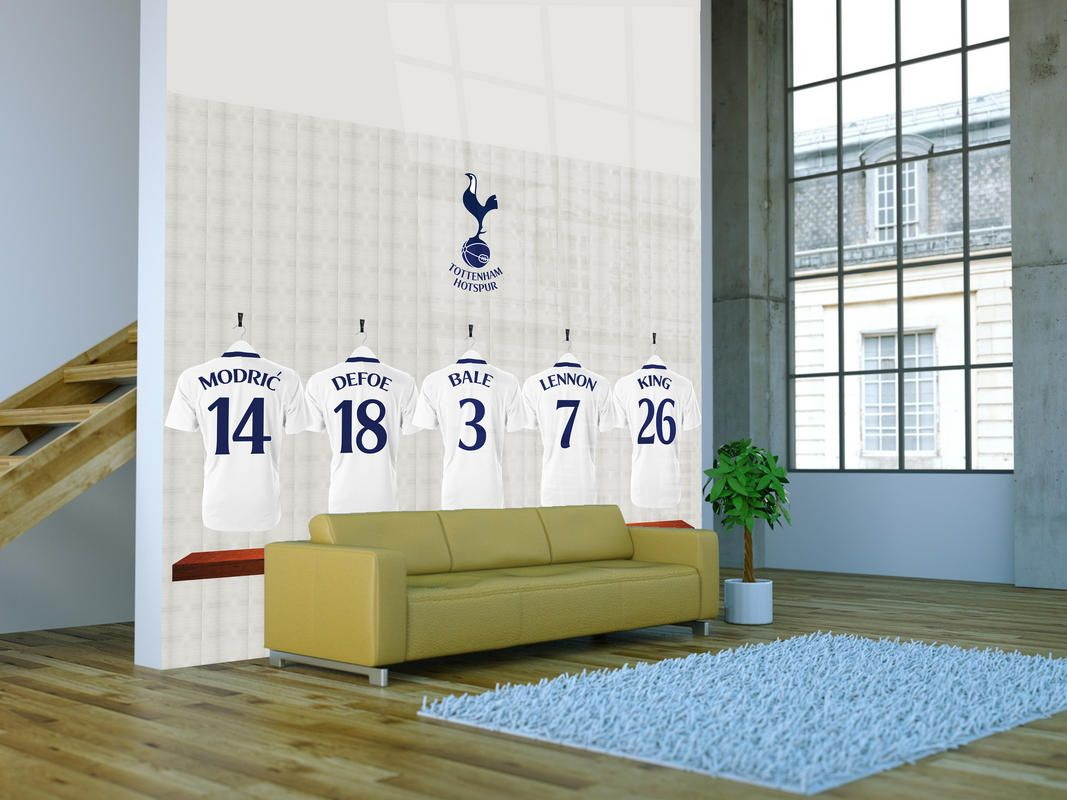 Get the spurs dressing room heros in your living room or for Create your own mural wallpaper