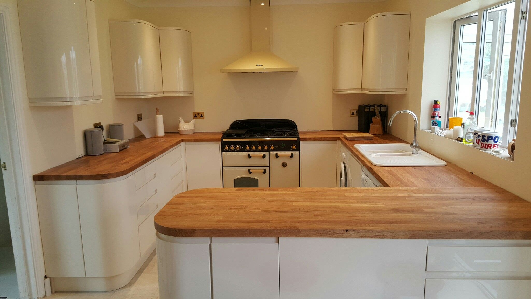 Wickes Kitchen Flooring Wickes Sofia Kitchen With Solid Wood Worktop Designed By Ivan
