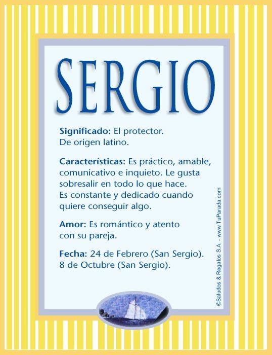 Sergio Significado Del Nombre Sergio Nombres Significados De Los Nombres Nombres De Niñas Nombres