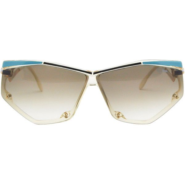 9af090bbc8e Cazal Vintage Navy Blue and Seafoam Sunglasses 861 283 ( 750) ❤ liked on Polyvore  featuring accessories