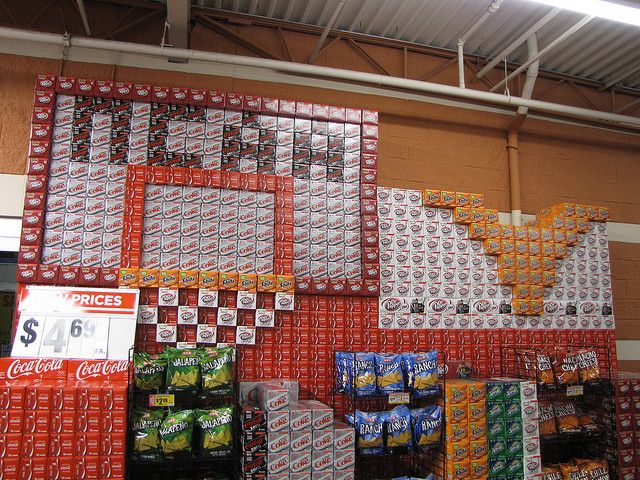 """02.26.2010 The soft drink stockers at my local grocery story are quite creative. They often put up displays for special sporting events. This one is to commemorate the beginning of the NCAA College Basketball tournament aka """"March Madness."""" Start tho What is March Madness? Get access to our QuickInsane March Madness bonus here."""