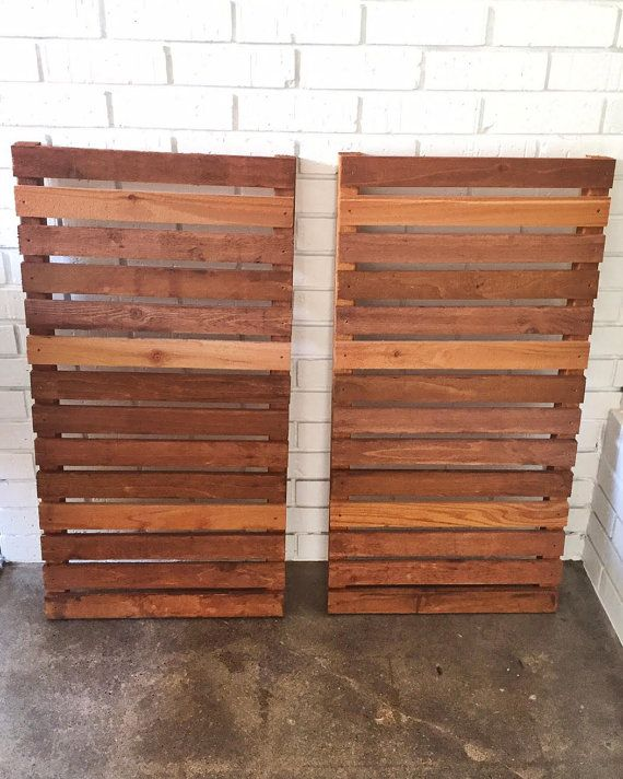 Modern wood slat house shutters pair by sunscout on Etsy palet - persianas para exterior