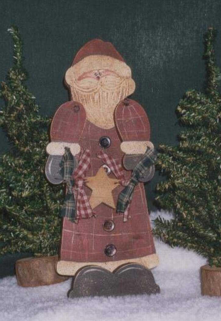 Free Primitive Images To Paint On Wood Santa Claus