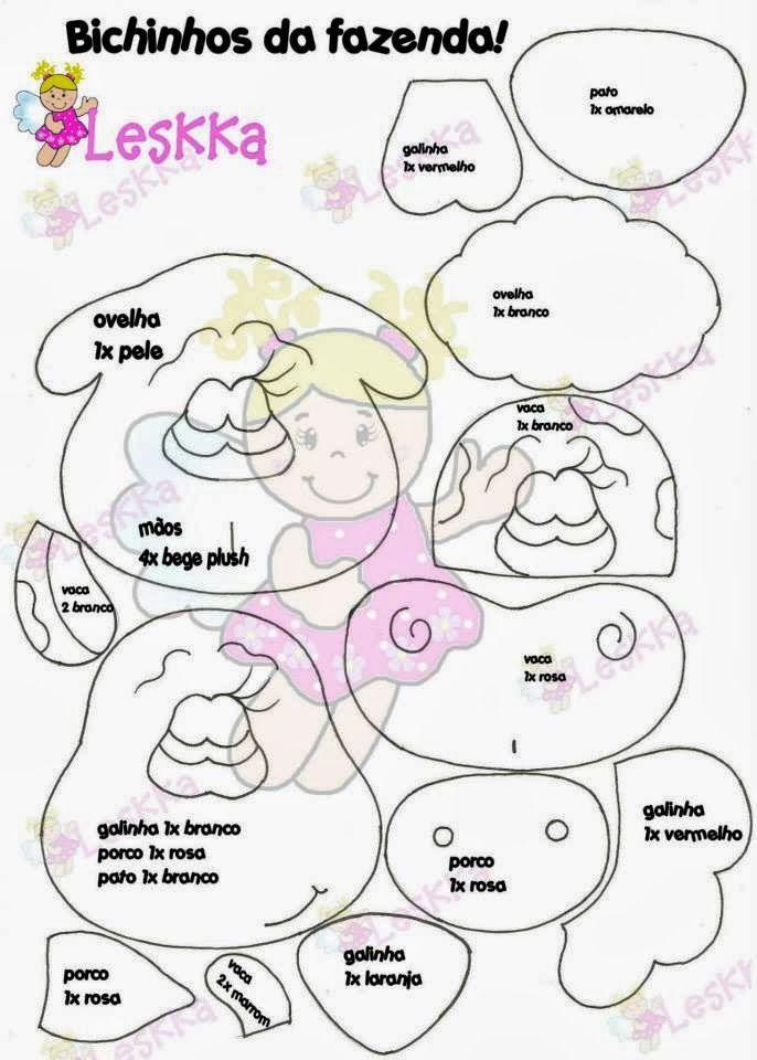 Animalitos De Granja 2 Leskka Felt Patterns Felt Crafts E