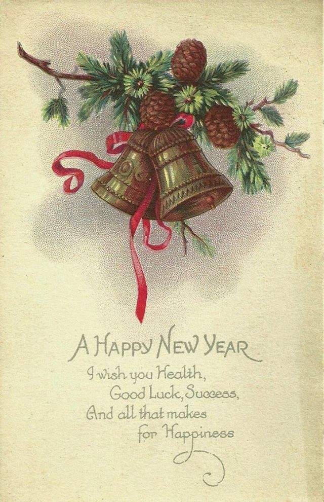 A Collection of 30 Lovely Vintage New Year Cards | Cards/ Postcards ...