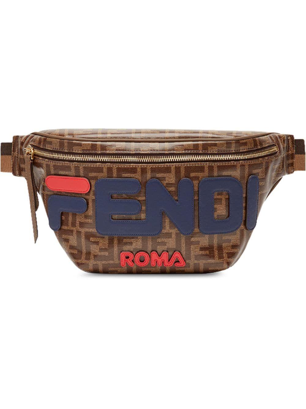 3ddc8f2408 FENDI FENDI DOUBLE F LOGO BELT BAG - BROWN. #fendi #bags #leather ...