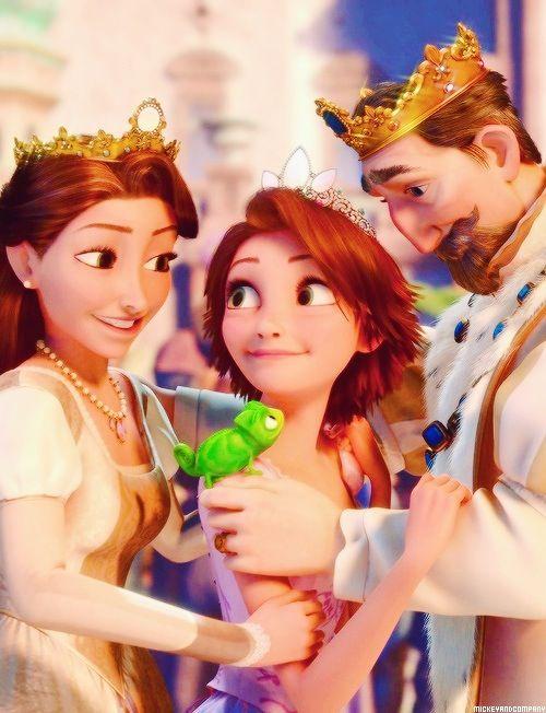 Tangled Rapunzel Y Sus Padres Paleta De Color Analoga Emocion Paz Felicidad Princesas Disney Cosas De Disney Fondo De Pantalla Princesa Disney