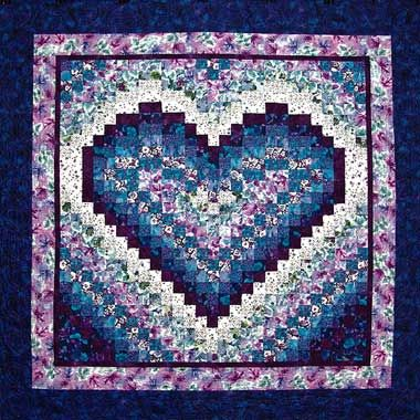 The Art Of The Quilt Heart Bargello Heart Quilt Pattern