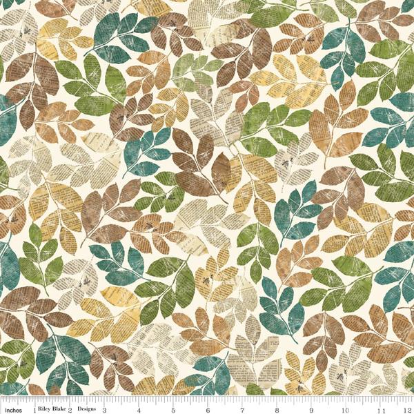 """Designerstoffe USA - Baumwollstoff - """"Trail Mix Leaves Multi"""" - ein Designerstück von Kathi-Kunterbunt bei DaWanda"""