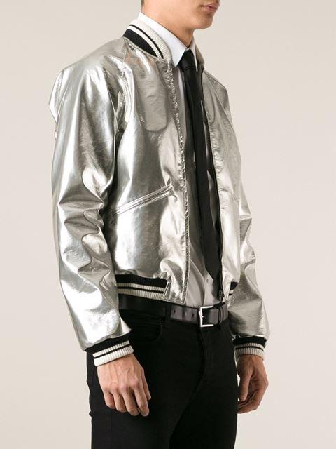 ba895774f Saint Laurent Metallic Bomber Jacket - Apropos The Concept Store ...