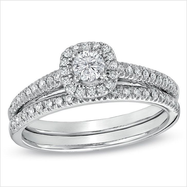 The 19 Most Stunning Engagement Rings That Cost Less Than 3 500 Engagement Rings Affordable Wedding Ring Sets White Gold Wedding Ring Set