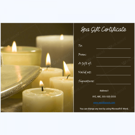 Relax at spa offer free massage with the help of a gift template relax at spa offer free massage with the help of a gift certificate yadclub