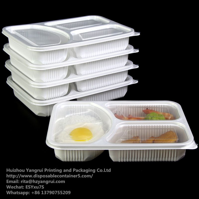 3 Compartment Disposable Food Container Food Grade 100 New Material Disposable Food Conta Disposable Food Containers Food Containers Vegetable Packaging