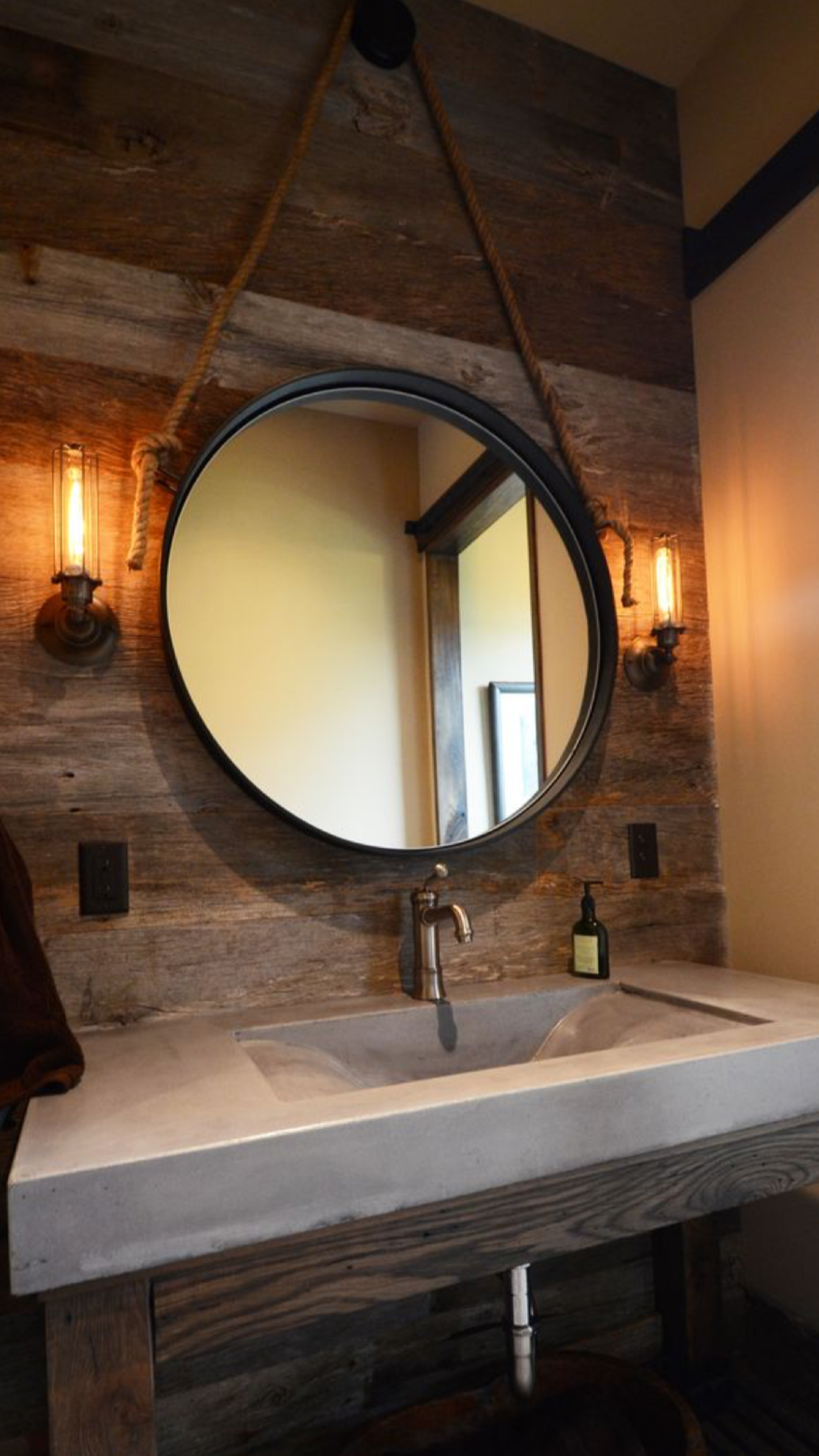 Barnwood Bathroom Sink I Like This Mix Of Materials For