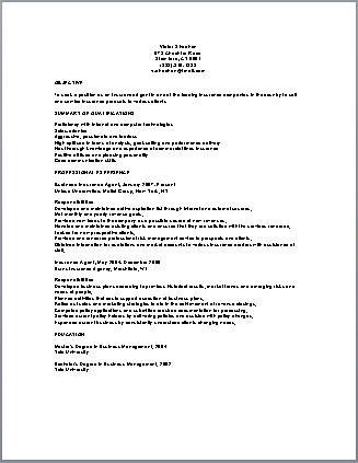 Insurance Agent Resume Sample Resume Life Insurance Agent Executive Resume