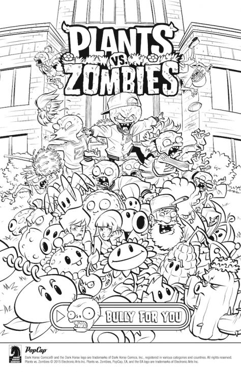free online plants vs zombies coloring page