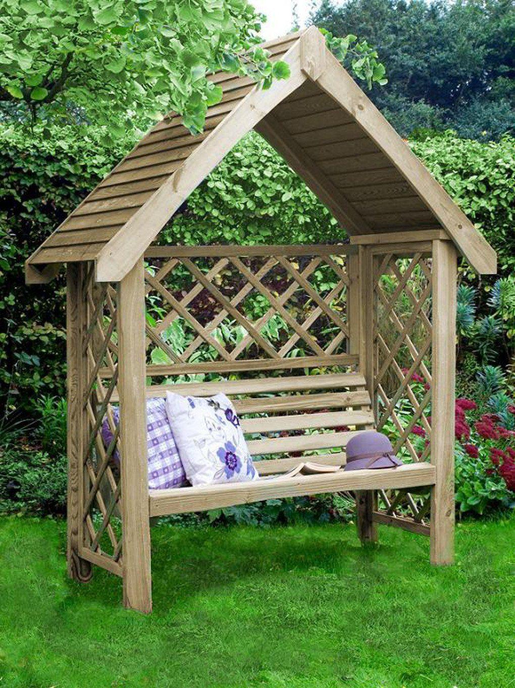 gartenbank mit dach gartenlauben und carports oxford arbor gartenbank mit dach in 2019. Black Bedroom Furniture Sets. Home Design Ideas