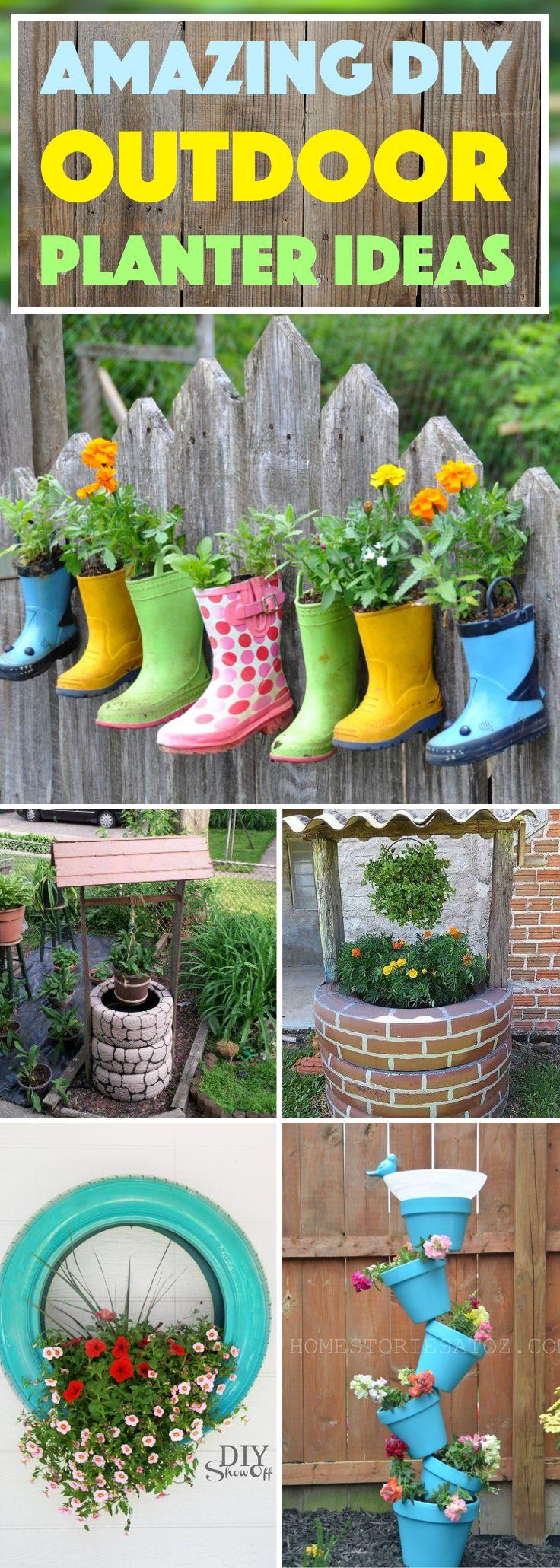 20 Amazing DIY Outdoor Planter Ideas To Make Your Garden Wonderful #diy #outdoor #planter #ideas #backyard #garden