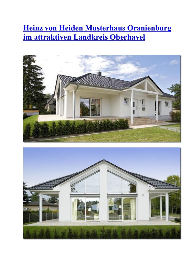 Das Musterhaus In Oranienburg Ist Ein Lichtdurchfluteter Bungalow Der Sich U A Durch Die Vorzuge Des Wohnens Auf Einer Ebene A Haus Haus Design Style At Home