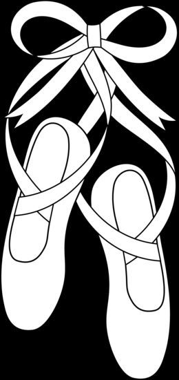 48+ Ballet shoes clipart black and white info
