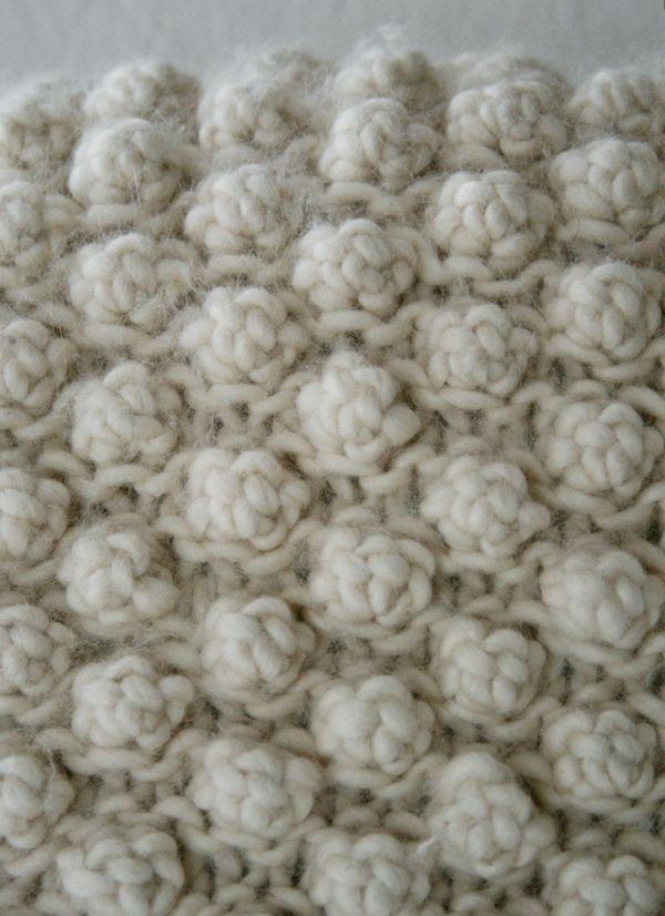 Bobble: 5 Ponto Jarreteira Bobble - tricô crochê Costura Bordados Artesanato Padrões e Idéias!