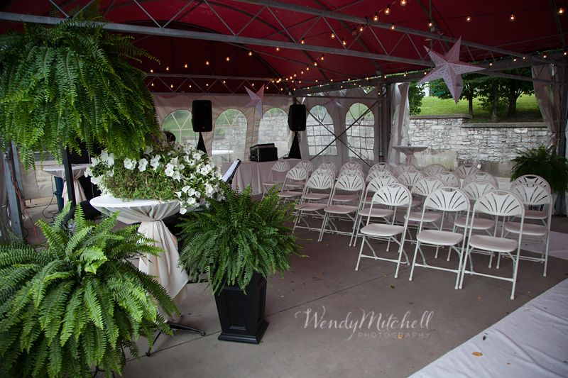 Marcy Casino Patio Set Up For Wedding Ceremony