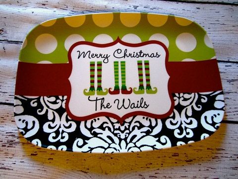 personalized christmas melamine platter a christmas to