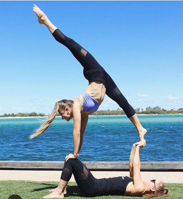 Partner Yoga Poses Gymnastics Poses Two Person Yoga Poses