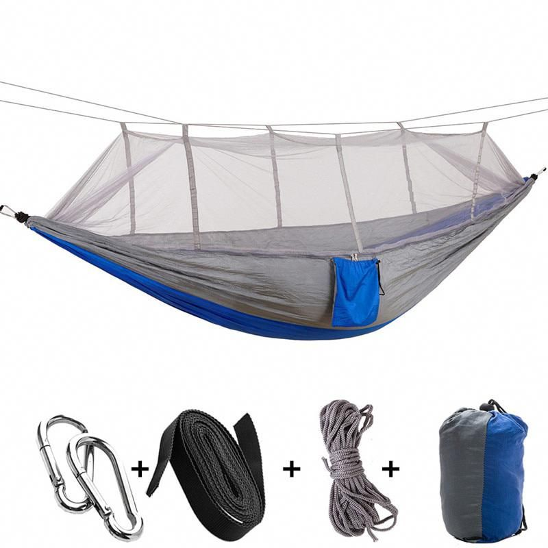 Hammock Mosquito Net Parachute Hammock Outdoor Camping Travel Hanging Portable Bed Hanging Bed Hunting Sleeping Swing Bedding Home & Garden