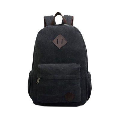 Stylish vintage canvas laptop backpack school rucksack travel outdoor shoulder…