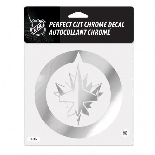 Winnipeg Jets Decal 6x6 Perfect Cut Chrome~ backorder Products - best of jets hockey coloring pages