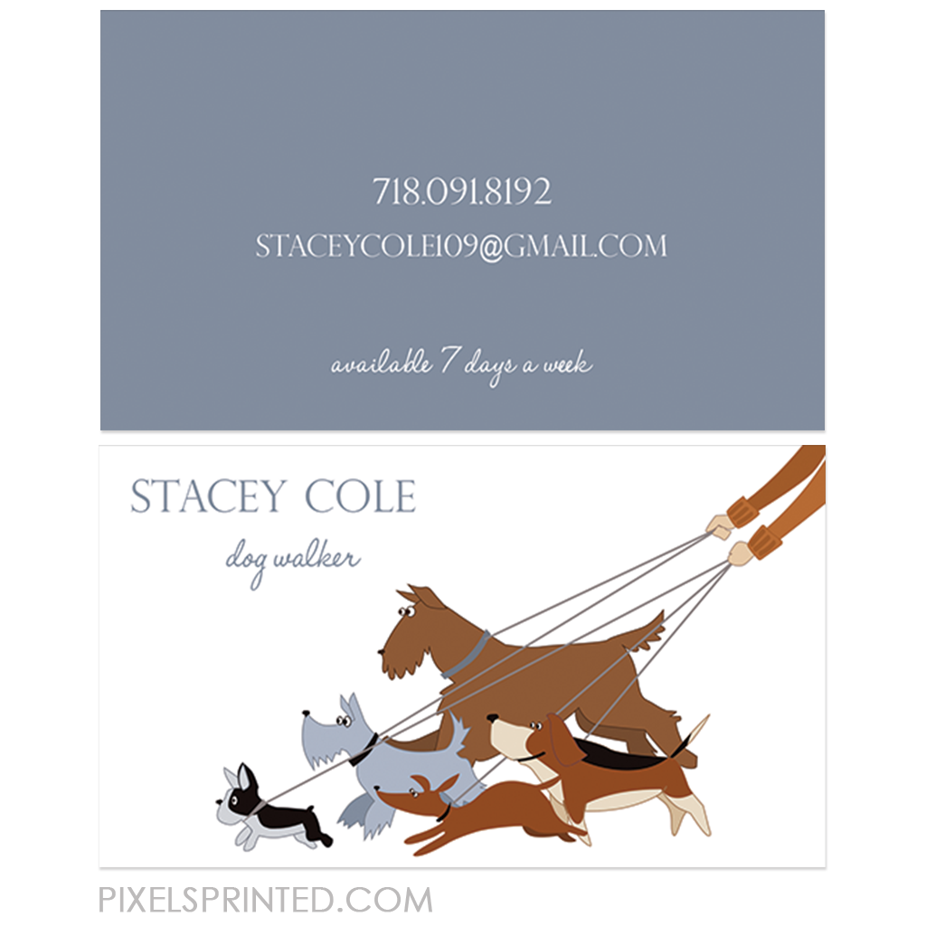 Dog walking business cards unlimitedgamers dog walker business cards dog walker pinterest business colourmoves