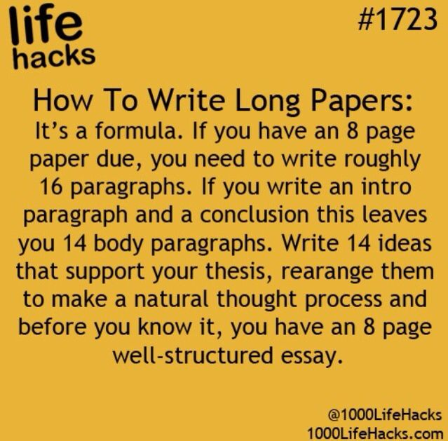 Essay Writing High School Writing Long Essays Essays On Science And Religion also Apa Format Sample Paper Essay Writing Long Essays  School  Life Hacks School Hacks College Hacks Business Plan Writer Price